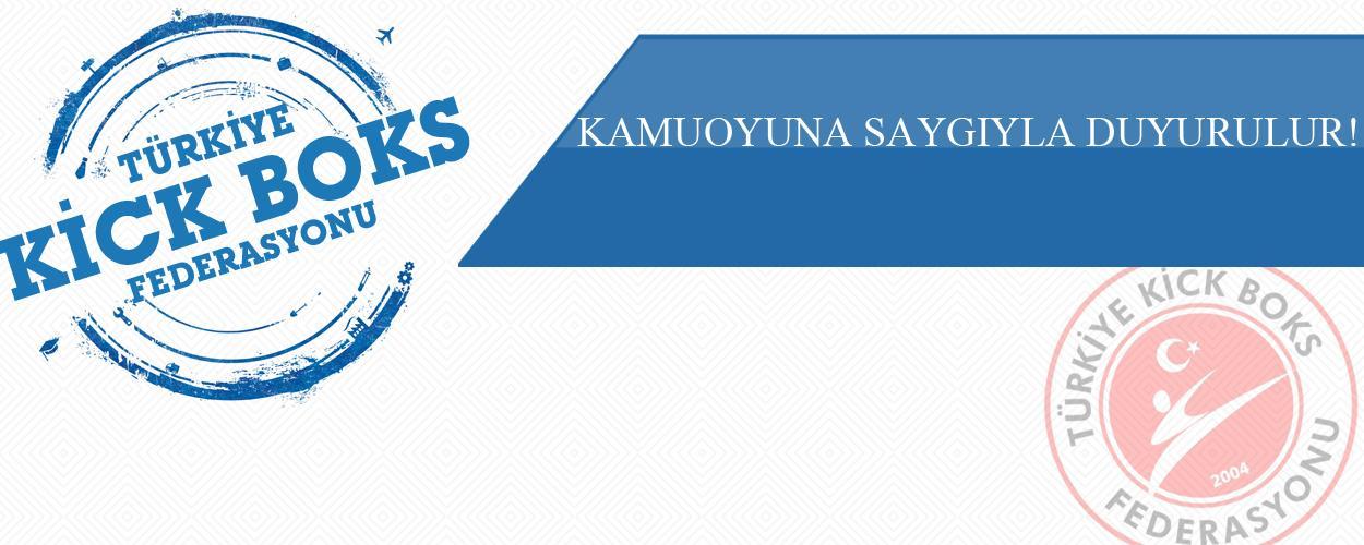 KAMUOYUNA SAYGIYLA DUYURULUR!