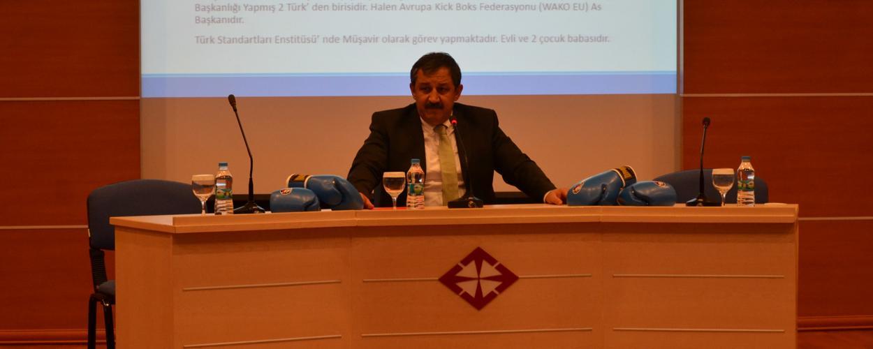 Federasyon Başkanımız Sayın Salim KAYICI Başkent Üniversitesinde Söyleşiye Katıldı