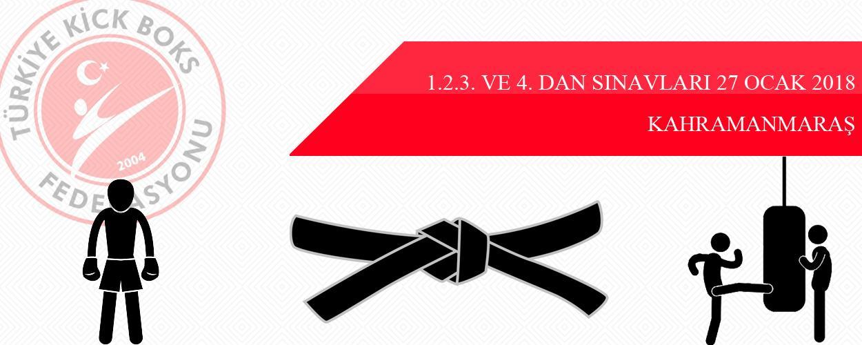 1.2.3. ve 4. Dan Sınavları - 27 Ocak 2018 - KAHRAMANMARAŞ